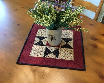 Quilted Table Topper / Handmade / Country Decor / Item #2387