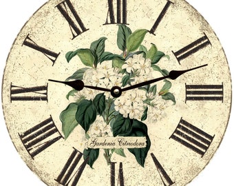 Gardenia Flower Wall Clock