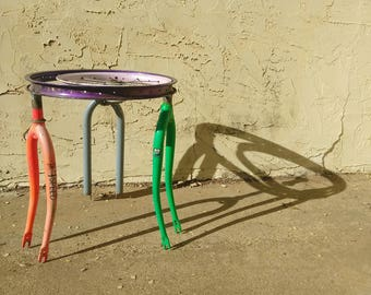 ReCycled Fork Side Table - in stock FREE shipping til September 30th