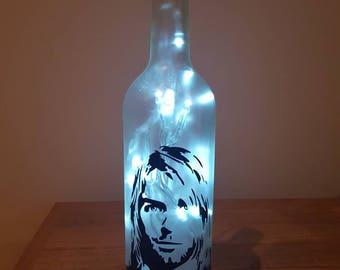 Nirvana Kurt Cobain bottle lamp