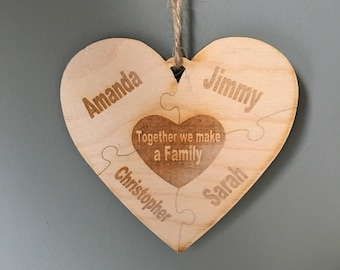 Together We All Make A Family Hanging Decoration! - Personalised!