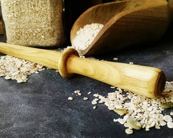 Spurtle, Oatmeal Spurtle, Hand Turned Wooden Spurtle, Wood Spurtle, Sunset Turnings