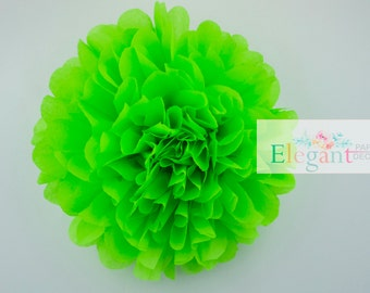 Bright lime l 1 tissue paper Pompoms,single pompom,nursery room decoration, baby shower,wedding,engagement,bridal shower,DIY,centerpiece