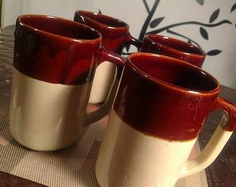 Monmouth Pottery Stoneware Tall Mugs