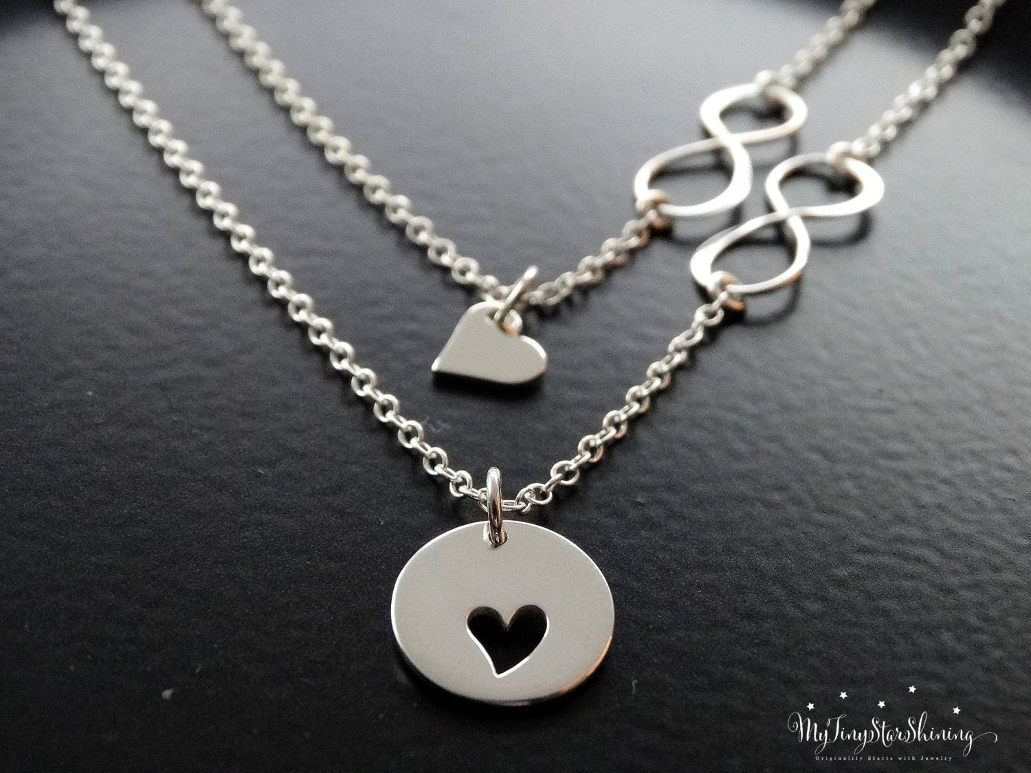 products necklace mother infinity sterling for mom rose daughter gold silver gift