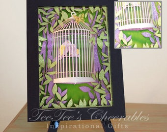 Loving Birds in 3D Cage