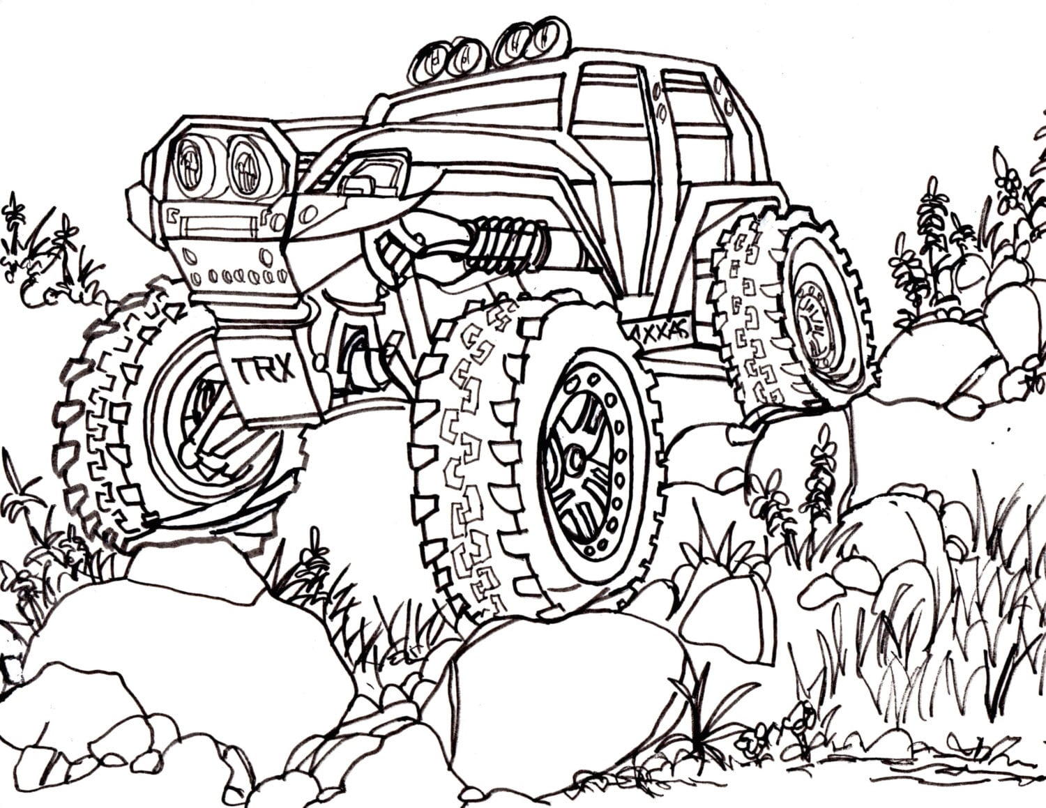 Traxxas Adult Coloring Page