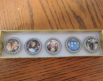 Bottle cap magnet set- Dr. Who 2