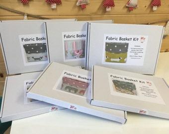 Fabric Basket kit make your own fabric basket DIY kit organiser