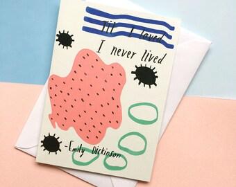 Til I loved card cc228