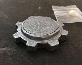 Pewter Resin Cast Cog Plinth