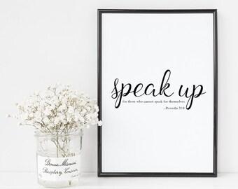 Speak Life Collection: Speak Up Digital Art Print