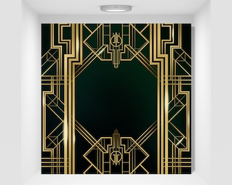 Great Gatsby Background Digital Banner Flyer & PSD 10x10inches