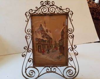 Brass frame with glass