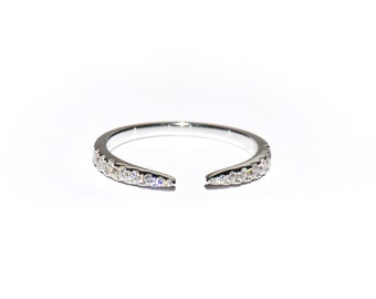 18k Pave Wrap Diamond Claw Ring**Made To Order*