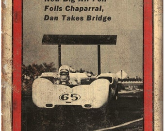 "1966 Autoweek Race Car Ad 10"" X 7"" Reproduction Metal Sign A665"