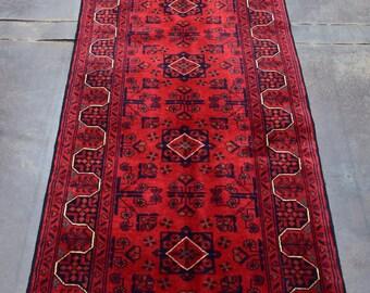 2.1' x 7.9' Free Shipping Beautiful Afghan Khalmohammadi Runner Rug