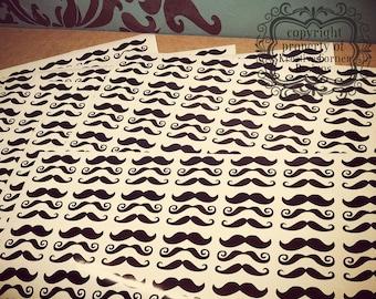 Small Mustache Vinyl Decals