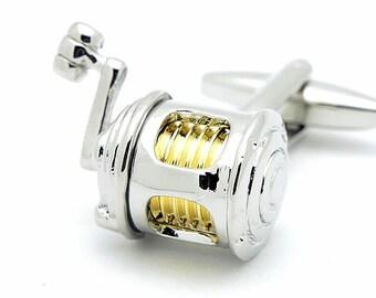 Fishing Reel Cufflinks