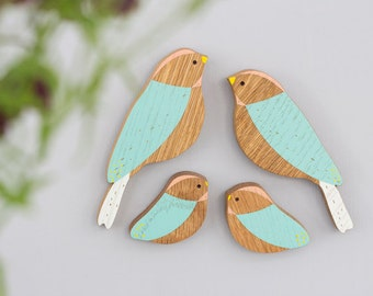 Wooden Wall birds - Family sets - Mother's Day Gift