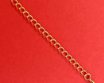 8 Closed Link Gold Extension Chains -- 3 inches long