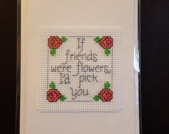 Handmade Cross Stitch Card