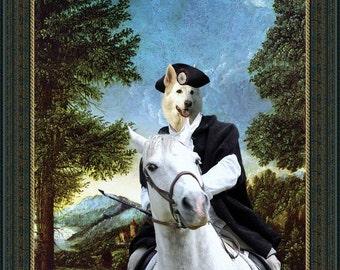 White Suisse Shepherd Art CANVAS Print Fine Artwork  Dog Portrait Dog Painting Dog Art Dog Print