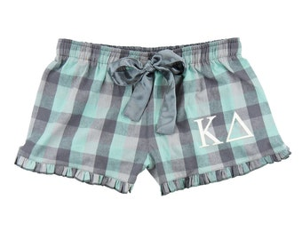 Kappa Delta Boxers, KD Flannel Boxer Shorts, Kappa Delta Sorority, Kappa Delta Flannel Boxers, Kappa Delta apparel, kappadelta, sorority