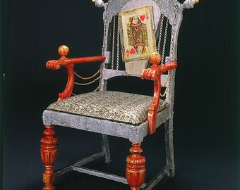 Queen of Hearts Art Chair