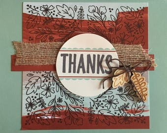 Stampin' Up Handmade Greeting Card: Thanks
