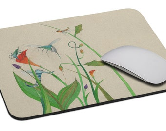Insects - Mouse Pad - Soft Fabric Top - Heavy duty natural rubber backing - Custom made