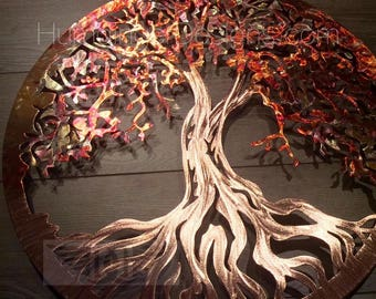 Metal Tree of Life Wall Art (Pure Copper)