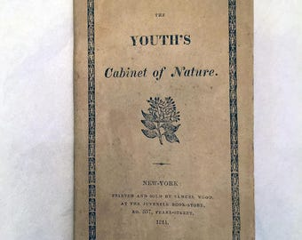 The Youth's Cabinet of Nature - Samuel Wood - New York - First Edition 1814