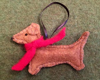 Foxie Doxie Ornament