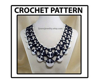 Crochet Stacked Button Necklace/Jewelry Pattern