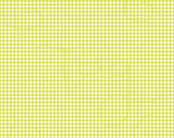 Yellow Green Gingham Cardstock Paper