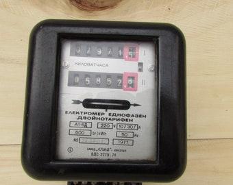 Old electrometer - Vintage double electrometer - Double phase electrometer - Electrometer
