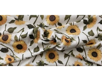 Sunflower, Knit Wrap, Women's Twist Head Wrap, Hippie Turban, Sunflower Headband, Boho, Adult, Sunflowers Print, Hippie Head Wrap, Hippy