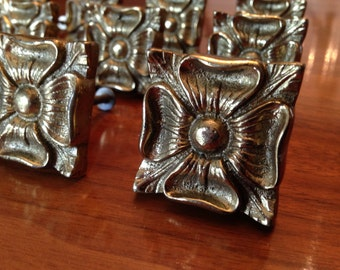 Vintage brass cabinet knobs - 12 available