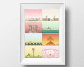 The Films of Wes Anderson Poster Print