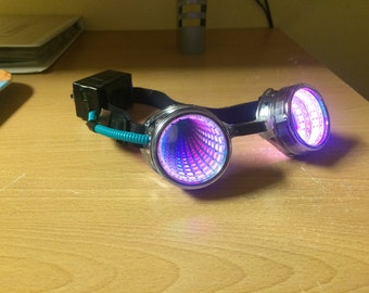 LED Silver infinity Goggles