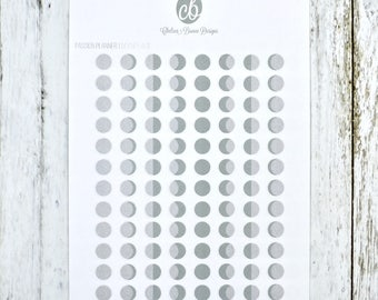 Moon Phase Stickers | Passion Planner Stickers for the Classic and Compact Size Pro