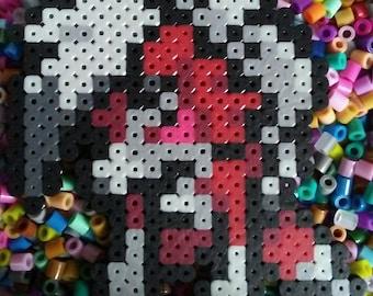 Pokemon Midnight Lycanroc Perler Bead Pixel Art