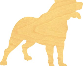 Rottweiler Dog Wood Cutout Small Sizes Up to 12 Inches  - Shapes for Projects or Other Use
