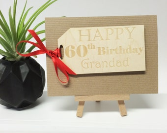 Personalised Birthday Card - Gift Tag Card - Keepsake Card - Wooden Card - Gifts for Her - Gifts for Him - Birthday Ideas