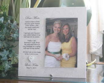 Thank You Mother Wedding Gift, Thank You Mother Wedding Frame, Thank You Mom Wedding Gift, Thank you Mom Wedding Frame, 4x6 photo