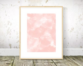 Smoke Print, Pink Wall Art, Blush Pink Wall Art, Tropical Print, Abstract Art, Abstract Print, Abstract Painting, Printable Wall Art
