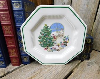 Set of 4 Vintage Nikko Christmastime Salad Plates & Nikko christmastime | Etsy