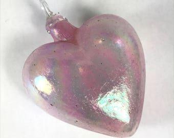 Light Pink Mount St. Helens Ash Heart Ornament