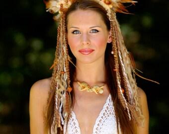 Tribal Feather Goddess Headdress